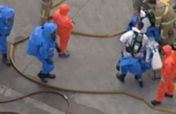 At least seven people taken to hospital after chemical spill