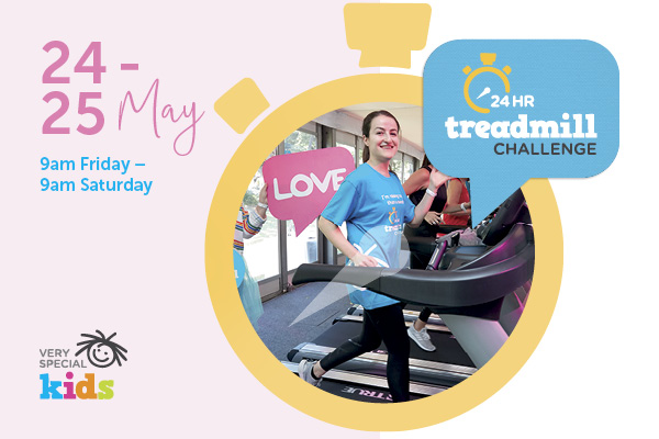 Article image for Donate now to 3AW's Very Special Kids, 24-hour treadmill challenge