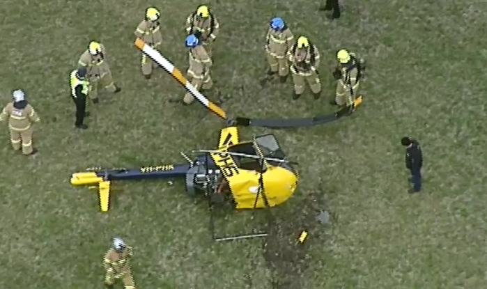 Article image for Helicopter crash-lands during 'incident' at Moorabbin Airport