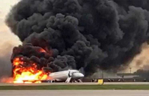 Article image for Shocking footage: Dozens dead in Russian plane crash
