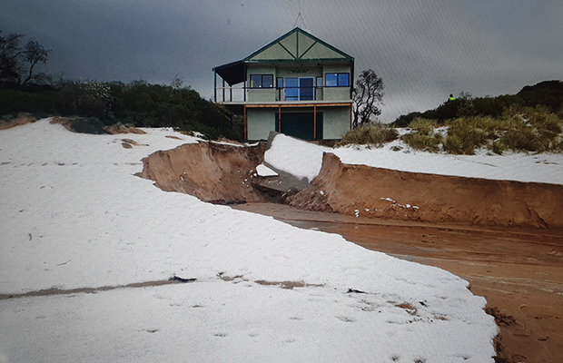 Article image for Surf Life Saving Club teetering on the brink of destruction