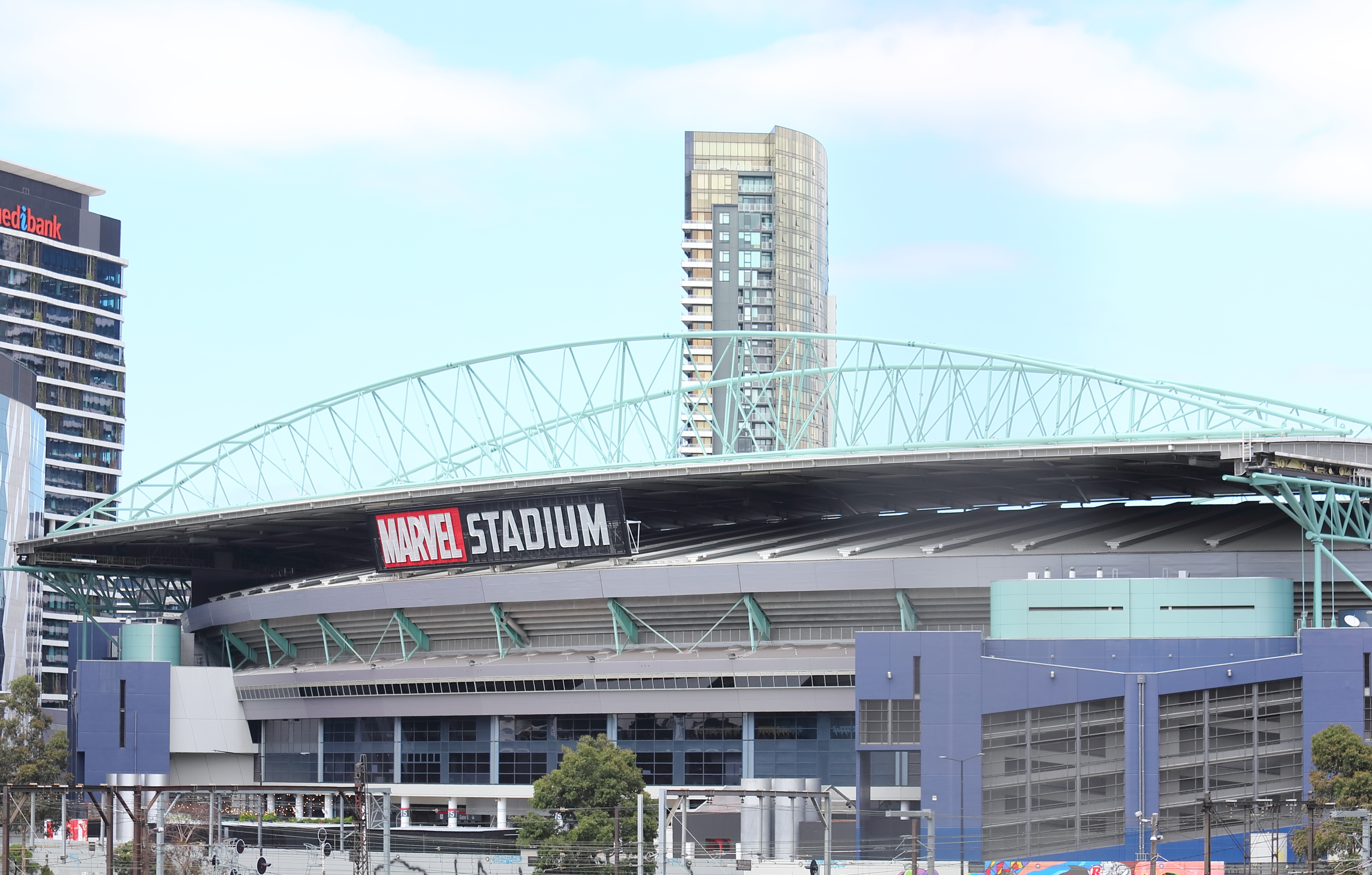 Article image for 'We haven't found a balance': Marvel Stadium pledges to review security presence at matches