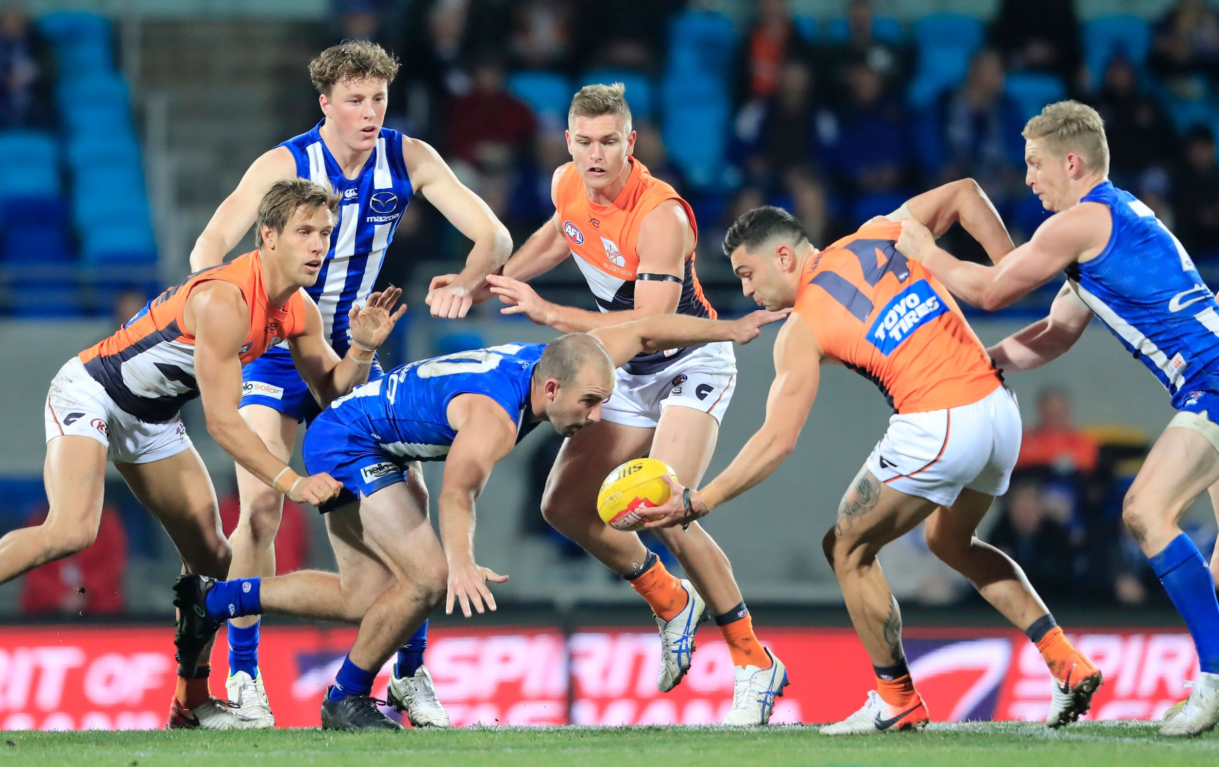 Giants beat spirited North Melbourne outfit in Hobart