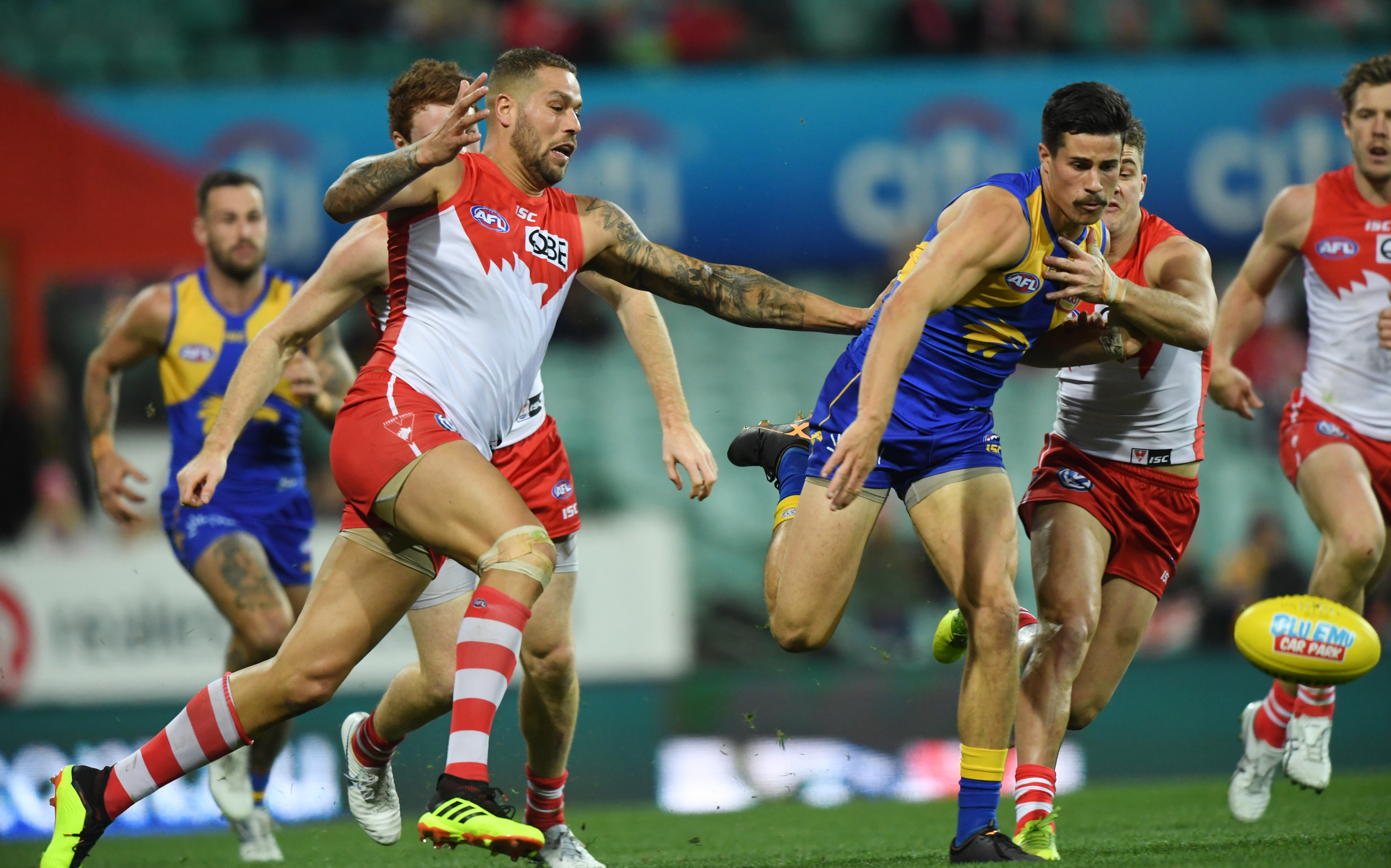 Article image for The Swans clean up the Eagles at the SCG