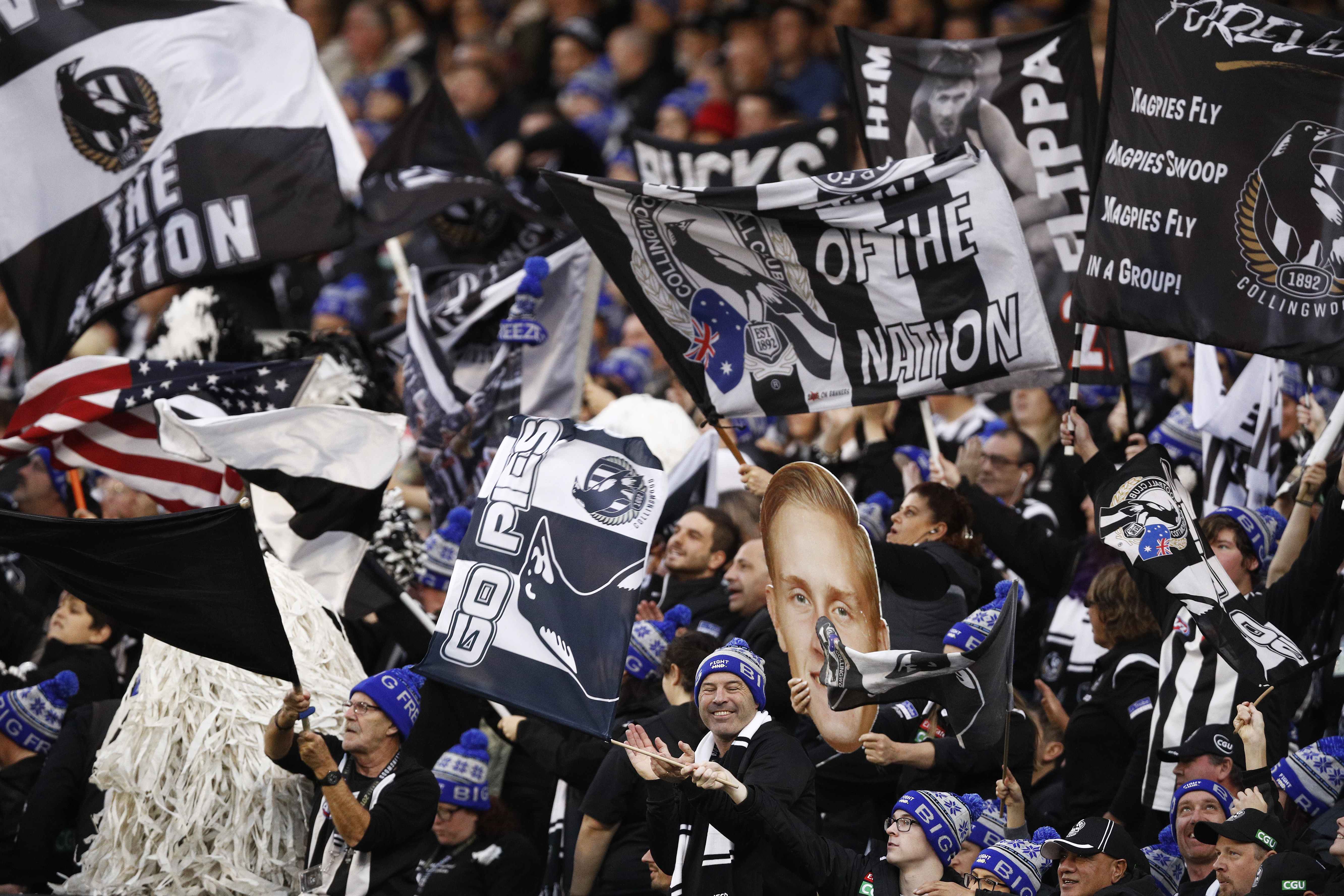 Article image for Pies fan says he was threatened with expulsion from the MCG for barracking too loudly