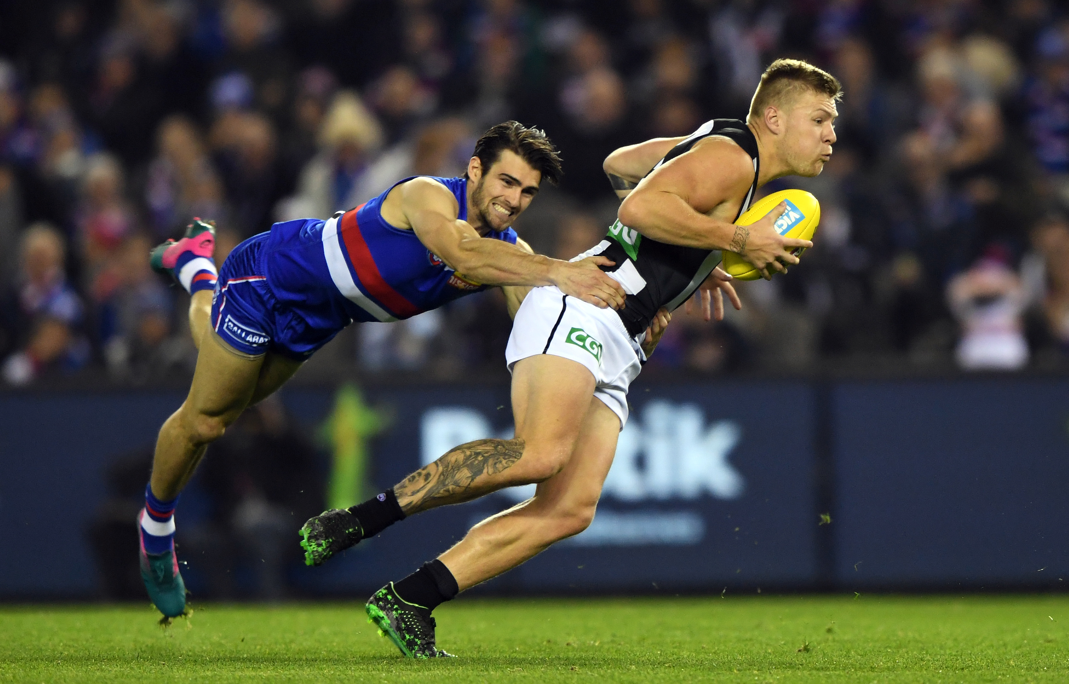 Article image for Collingwood hold off the Doggies in fast-paced Marvel clash