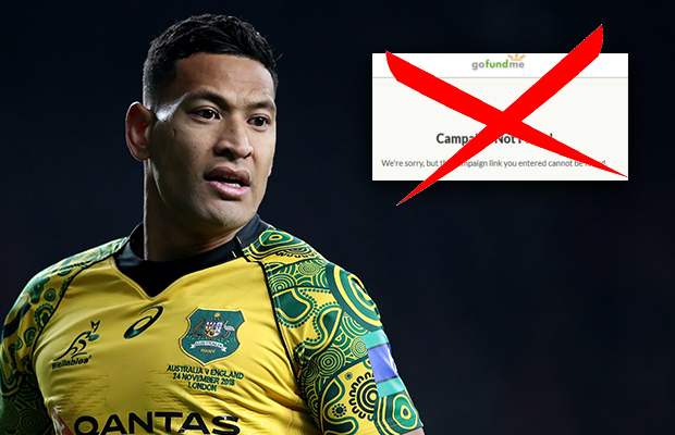 Article image for Israel Folau's controversial GoFundMe page shut down