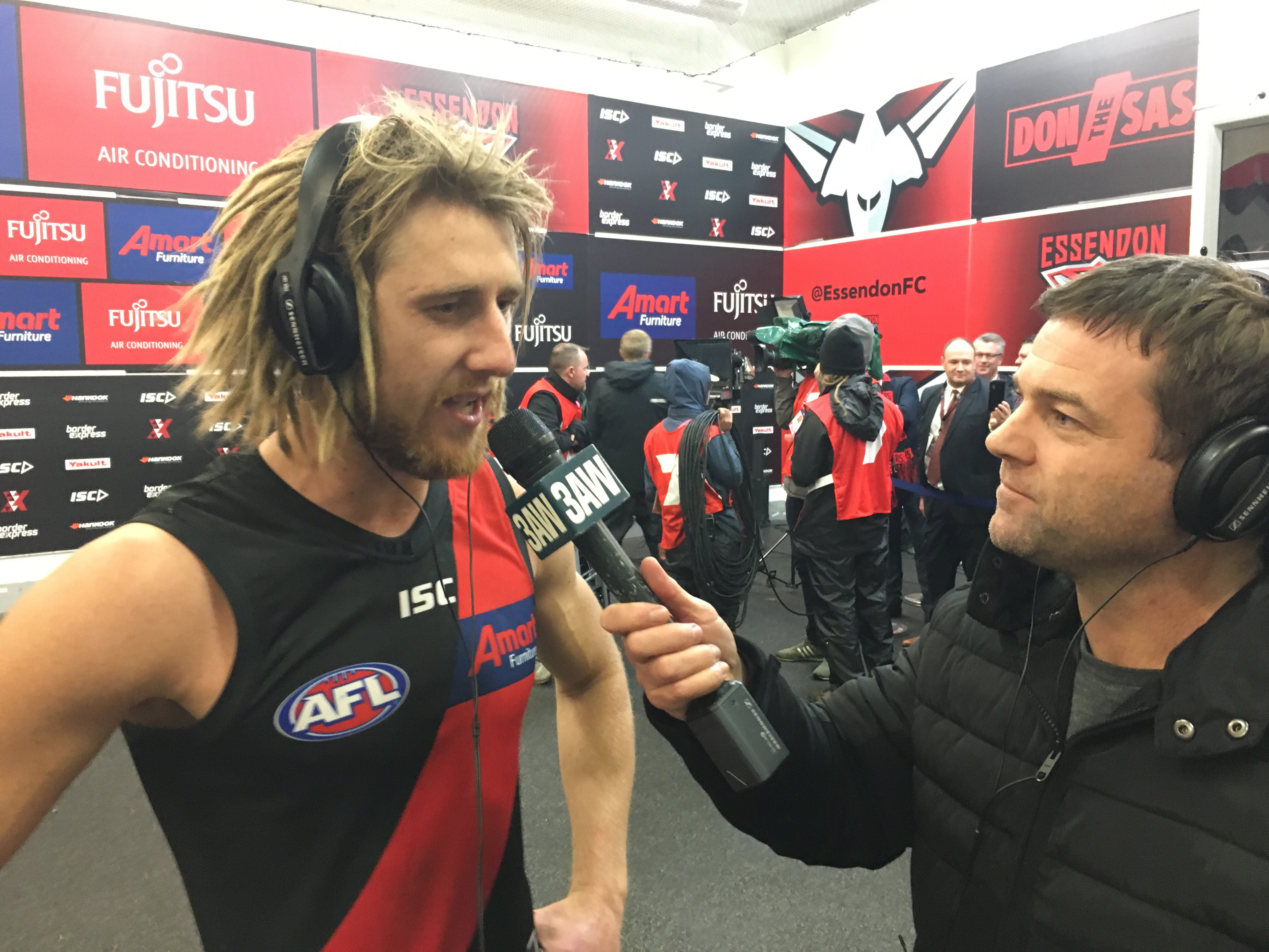 Article image for Dyson Heppell's high praise for 'outstanding' Dylan Clarke after tagging role on Cripps