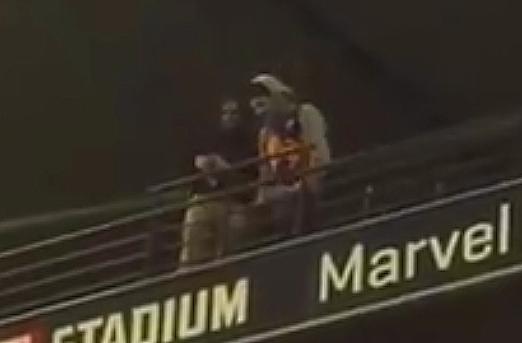 Article image for Yuck! Man filmed spitting on crowd at Marvel Stadium