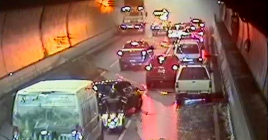 Article image for Car fire forces Burnley Tunnel closure