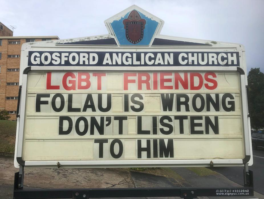 Article image for Anglican priest hits out at Israel Folau over his LGBTI stance