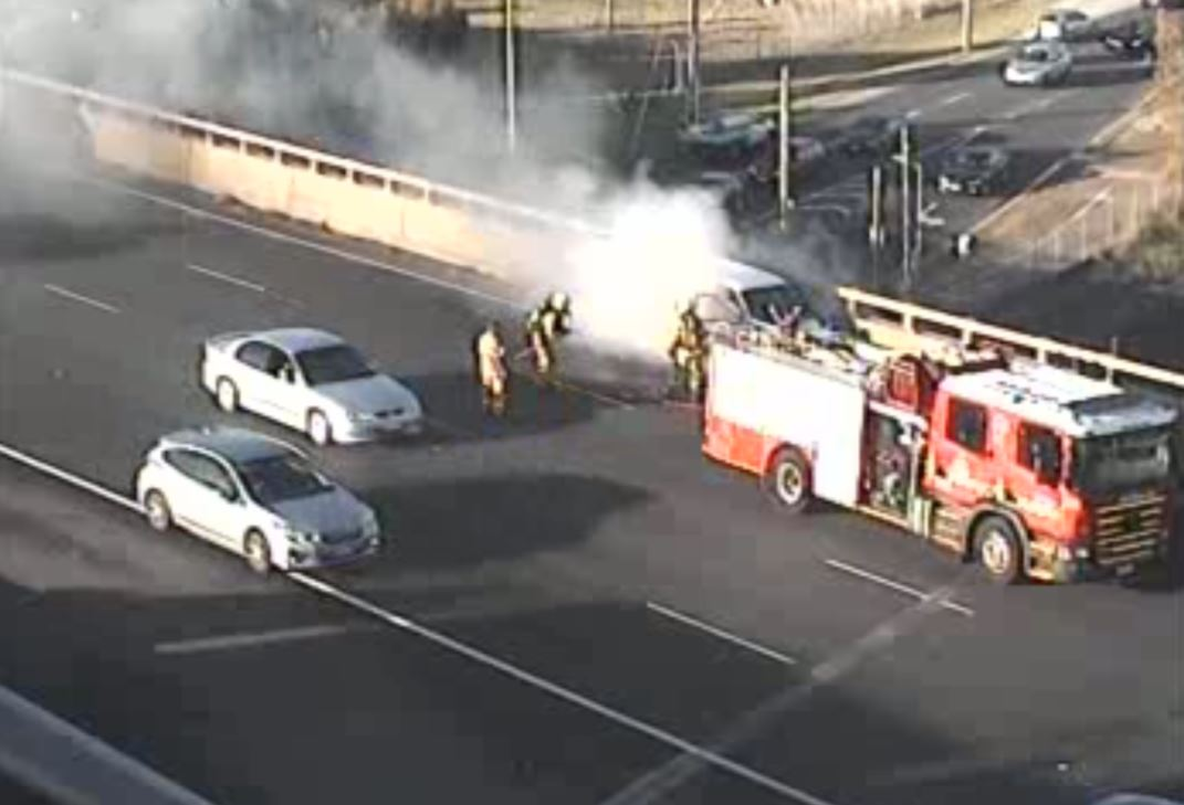 Van catches fire on Western Ring Road