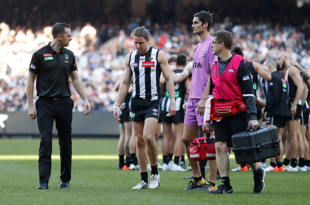 Article image for Collingwood says Tom Langdon is unlikely to play again this year