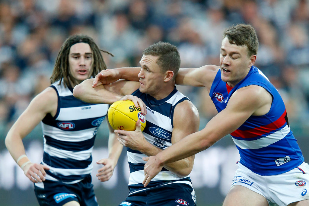 Article image for The Doggies get a sniff for finals as they knock the front runners for a win