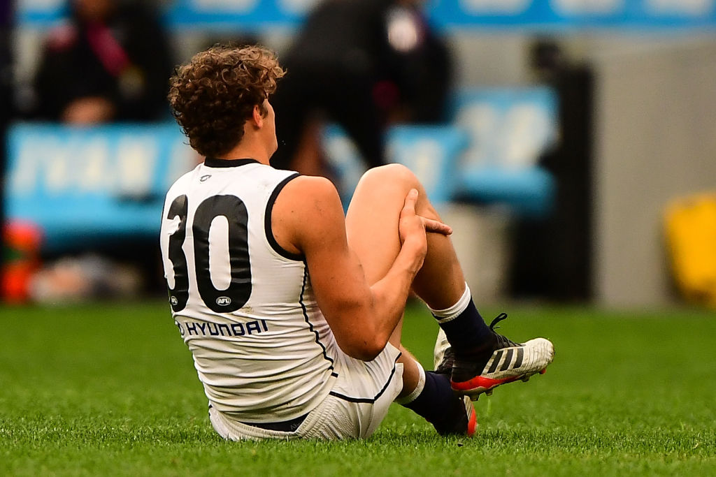Article image for Carlton confirms extent of Charlie Curnow's injury, as well as an update on key trio