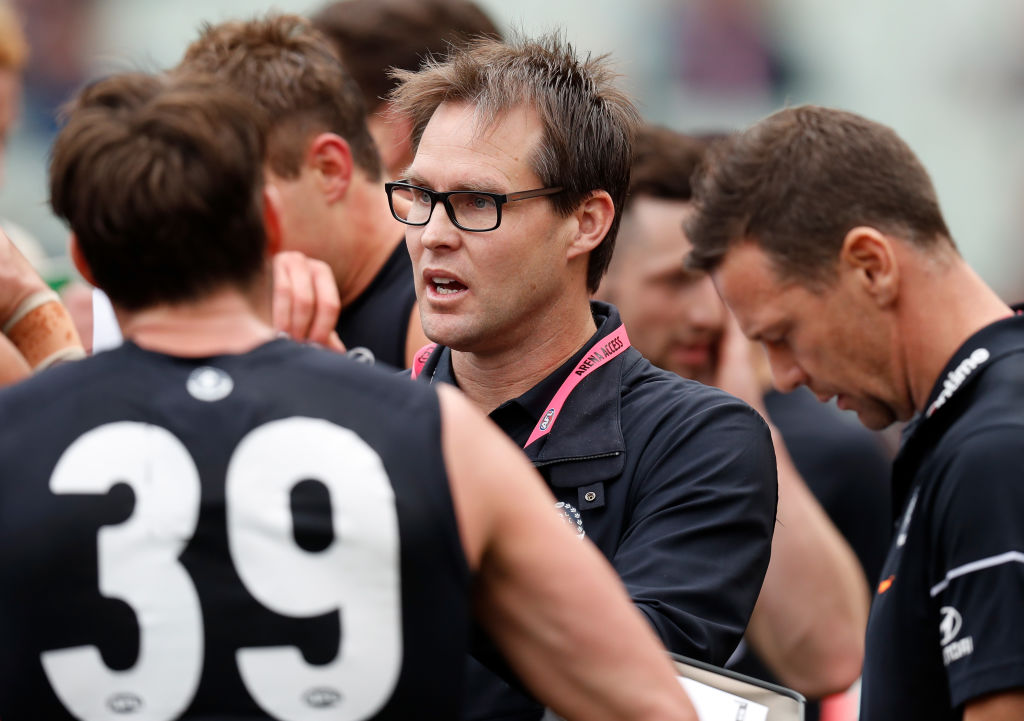 Article image for 'If it means being an assistant coach then I would be happy with that': Teague says he wants to remain a Carlton man