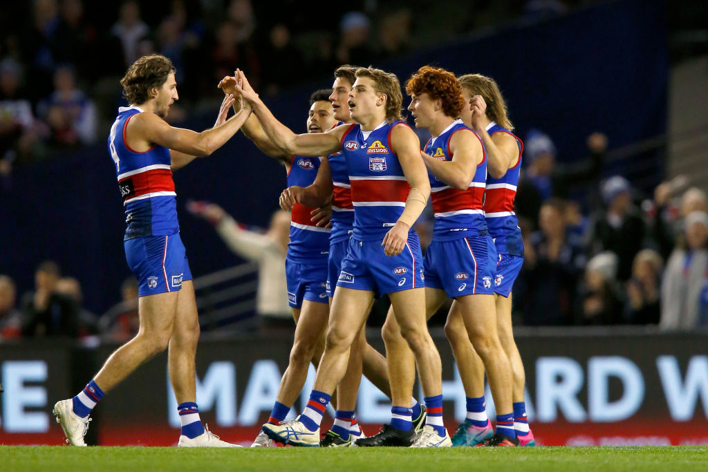 Article image for The Bulldogs outlast the Dees to win the match