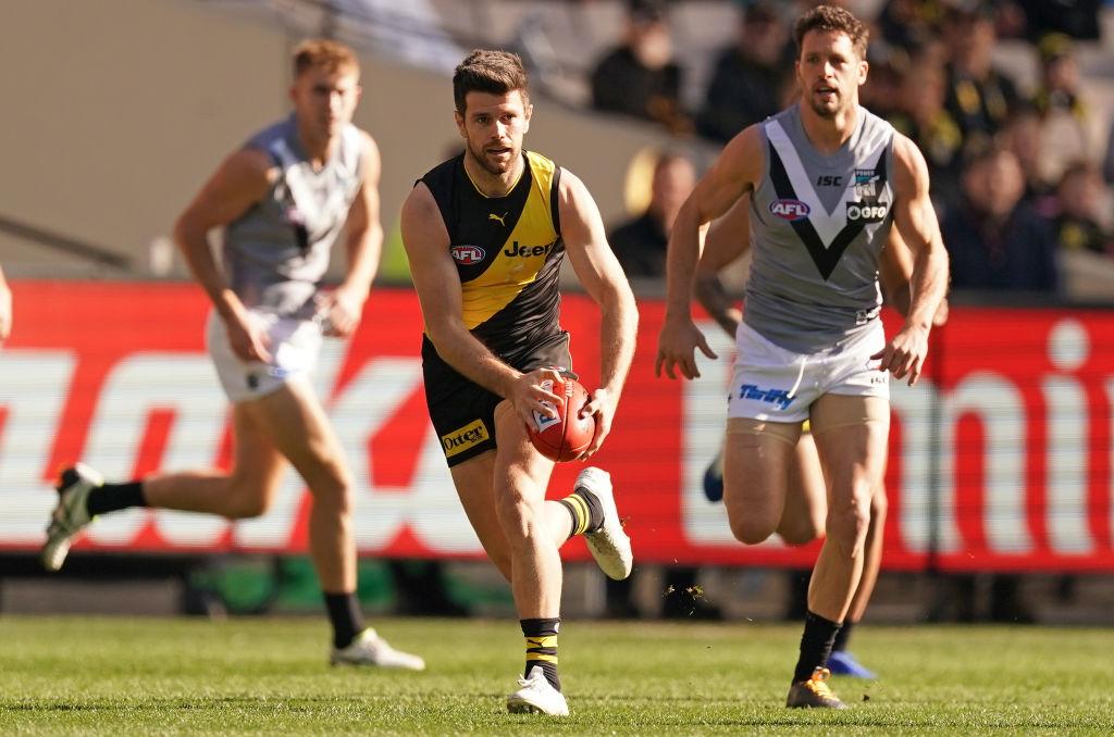 Article image for The Tiges roll into the top four after a workman-like win over Port