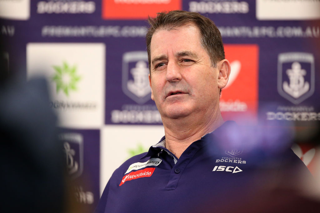 Article image for Ross Lyon 'bemused' and 'frustrated' by speculation about his coaching future