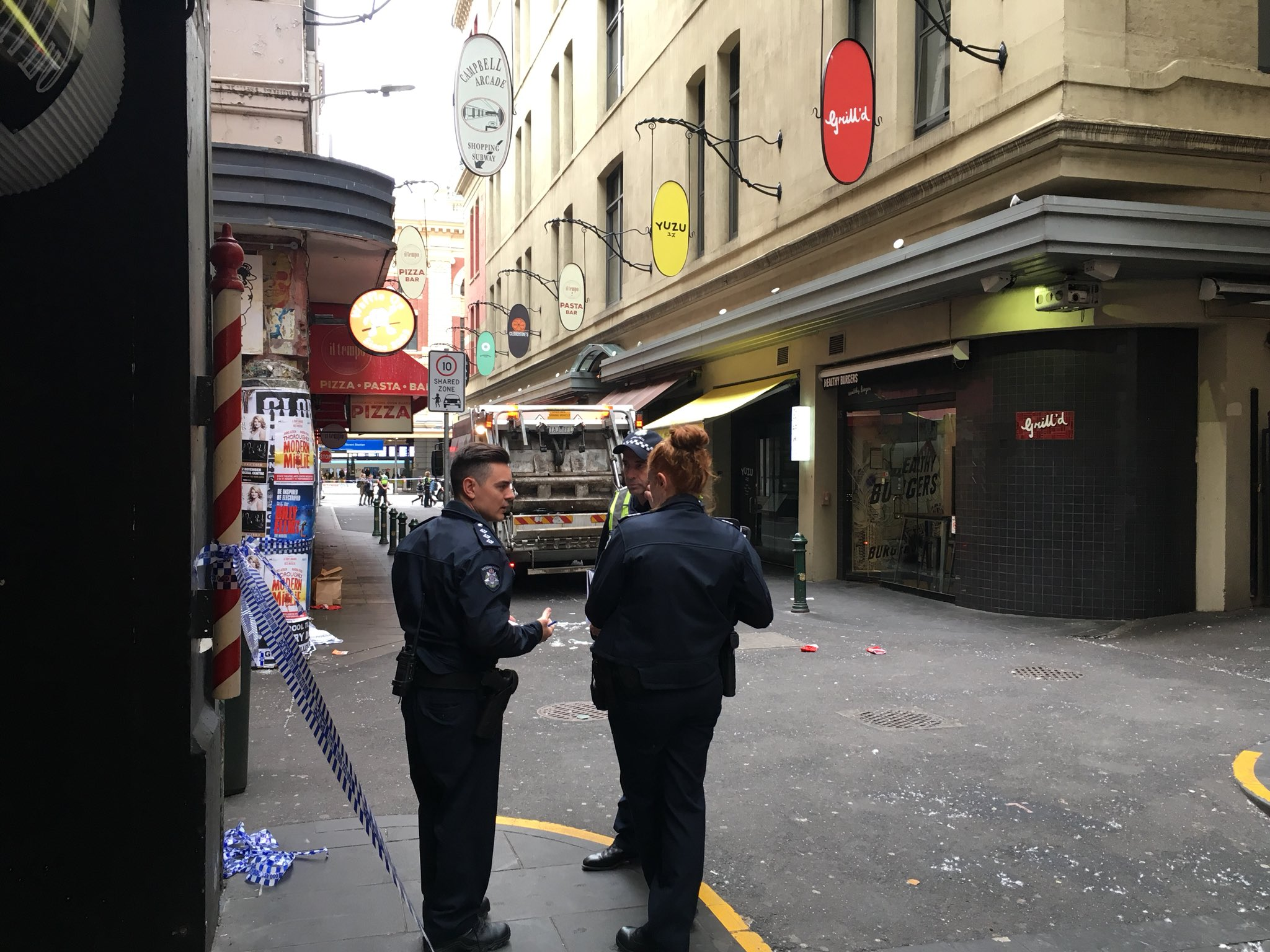 Article image for Homeless man crushed by rubbish truck in a Melbourne laneway