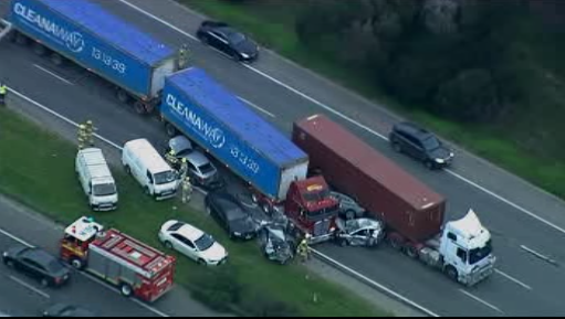 Monash Freeway miracle: No serious injuries after horror