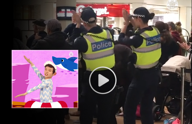 Article image for Police dance to Baby Shark: Should they be on the hunt?