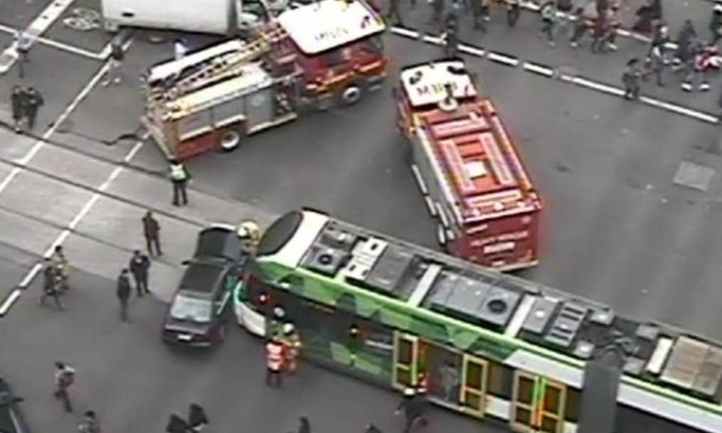 Article image for Tram smash shuts down CBD streets