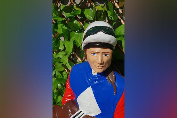 Have you seen Damien? Beloved jockey statue snatched