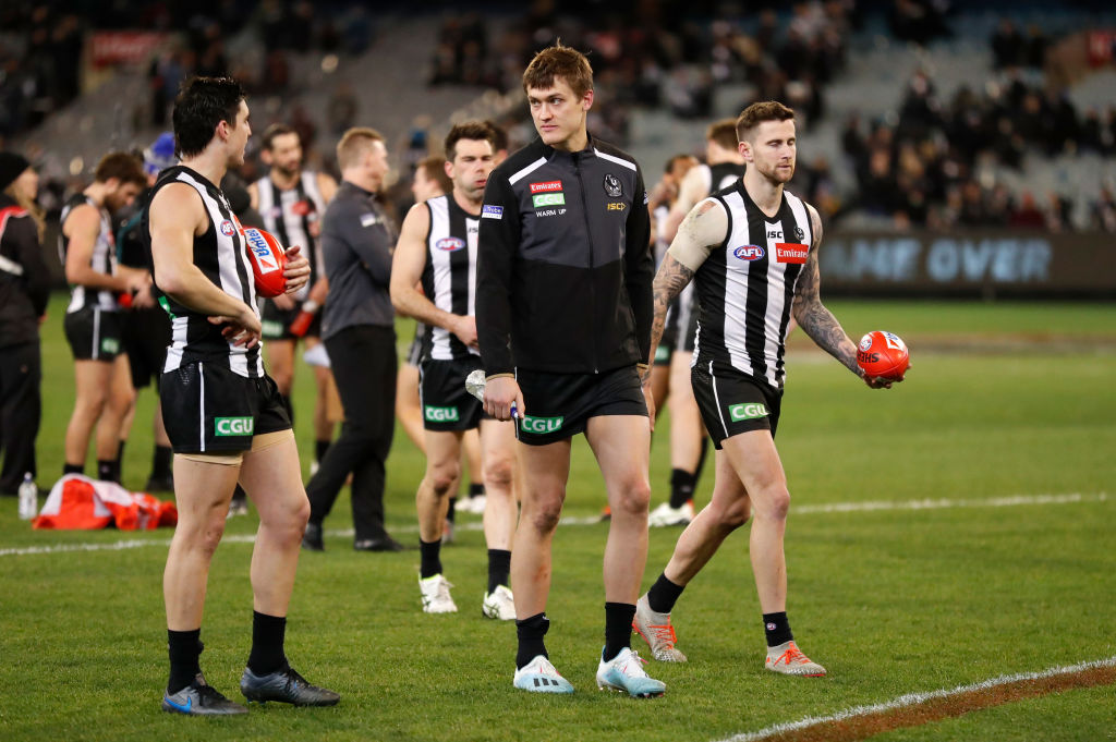 Article image for Nathan Buckley provides an update on Darcy Moore's hamstring injury