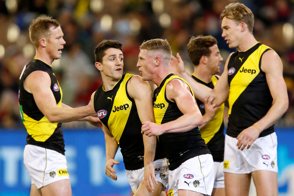 Article image for Richmond nudge their way back into the top four after tonight's win