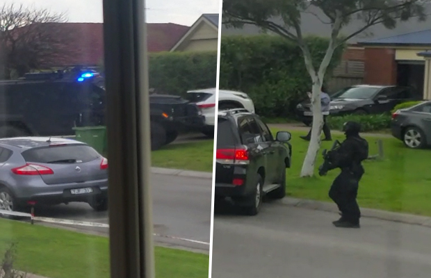 Article image for Heavily-armed police make dramatic arrest at Pakenham