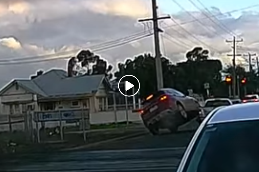 Article image for VIDEO: Shocking road rage ramming caught on camera