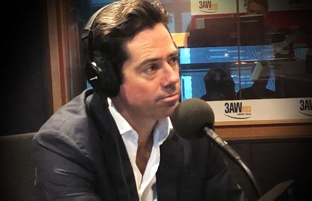 Article image for 'We'll move on': AFL boss refuses to apologise to 'flog fan'