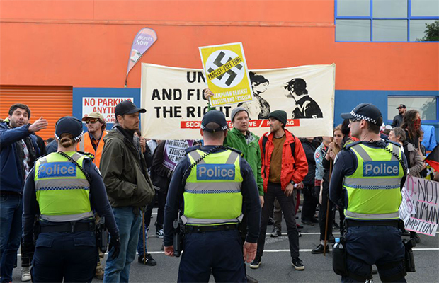 Article image for Victoria Police drops fines against organisers of controversial right-wing events