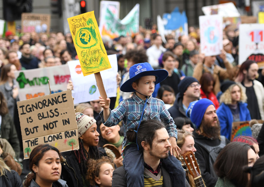 Article image for Huge climate strike brings Melbourne's CBD to a standstill
