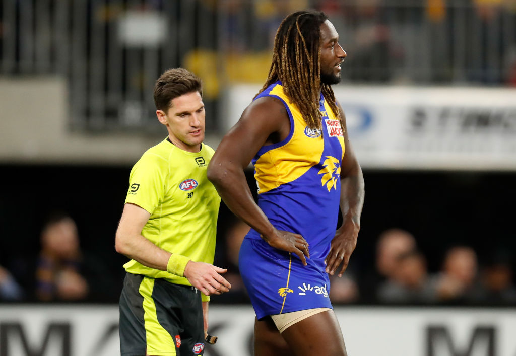 Article image for Nic Naitanui escapes suspension for hair pull retaliation