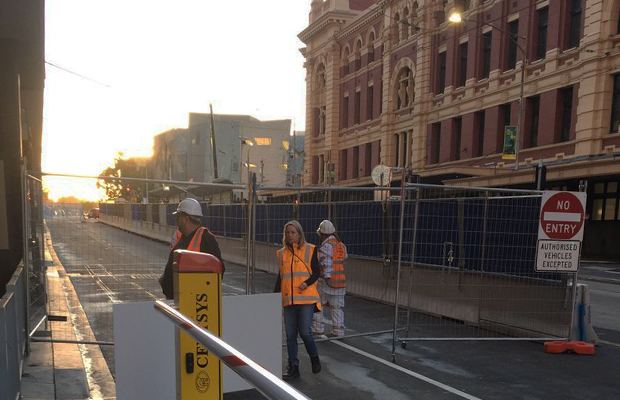 Article image for No cars go: This is Flinders St for the next three years