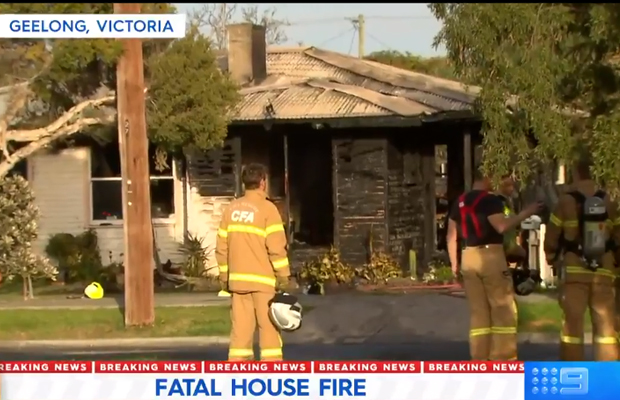 Article image for Man dead, another fighting for life in Geelong house fire