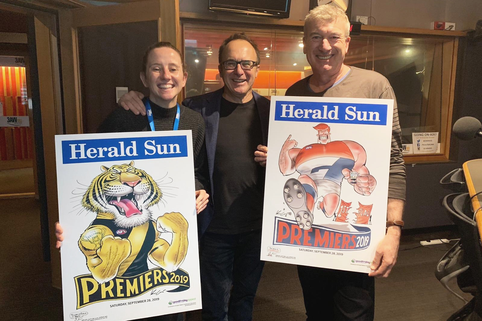 Article image for 'The expectation is huge!': Cartoonist Mark Knight reveals the 2019 premiership posters