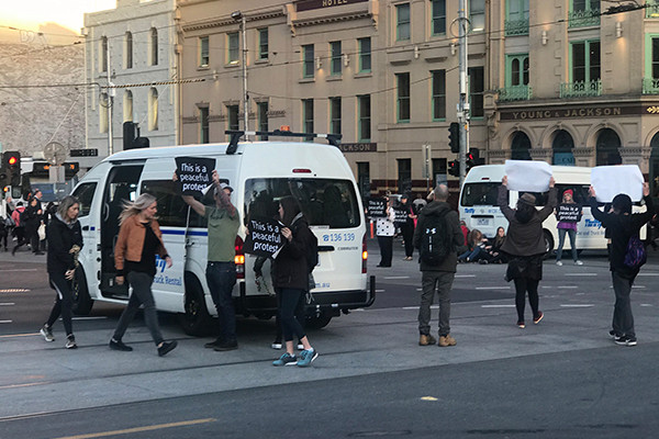 Article image for 'Lucky escape': 39 vegan activists ordered to pay $100 to charity for protest which shut down CBD
