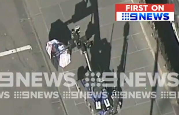 Article image for ANOTHER bomb scare shuts down CBD
