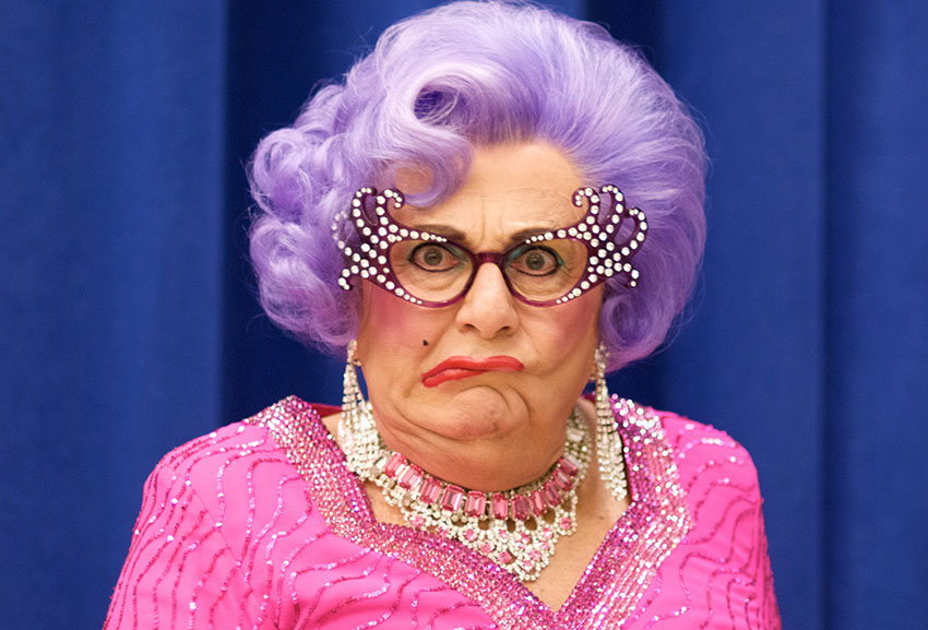 Article image for Dame Edna Everage grants Phil and Simon a rare interview