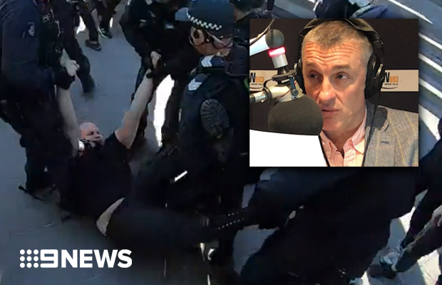 Article image for Tom Elliott slams 'stupid' protesters after they accosted executive of 'climate-friendly' company
