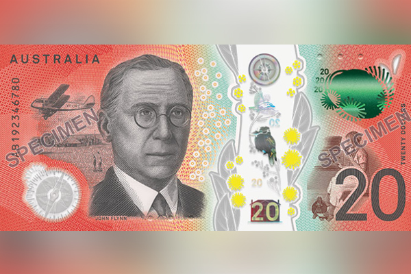 Article image for RBA unveils new Australian $20 note with special features to help the blind