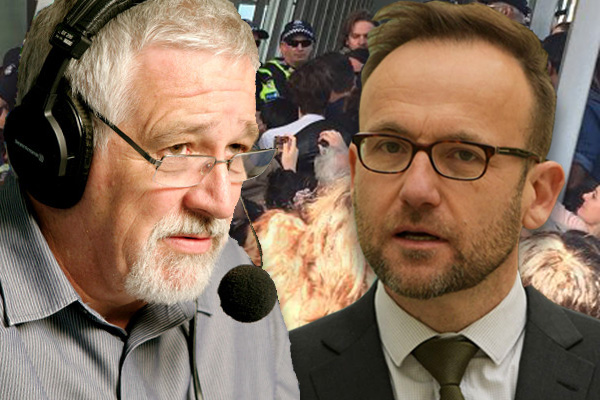 Article image for Neil Mitchell and Greens MP Adam Bandt clash over anti-mining protest