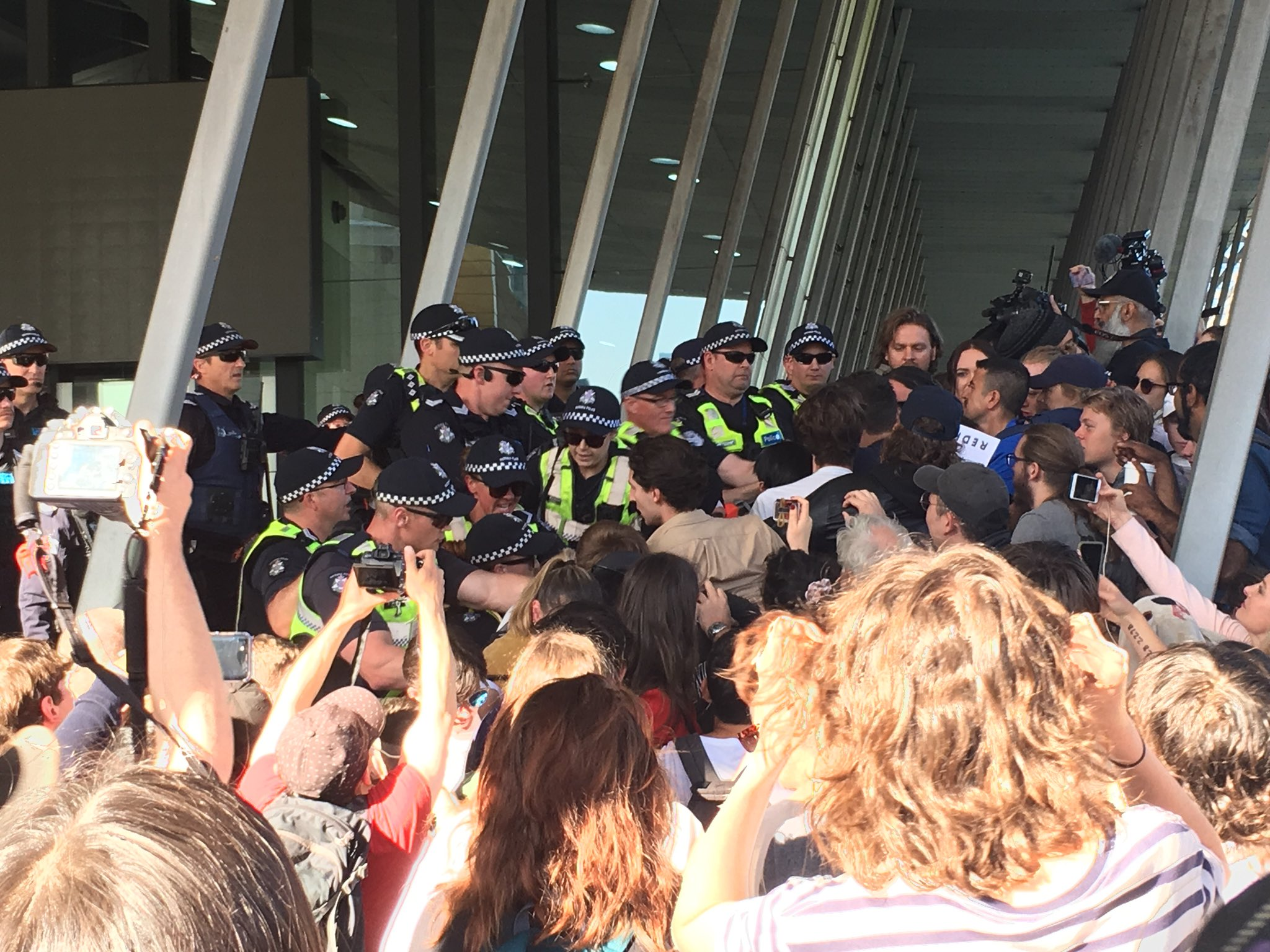 Article image for Police arrest 17 after violence erupts on third day of anti-mining protest