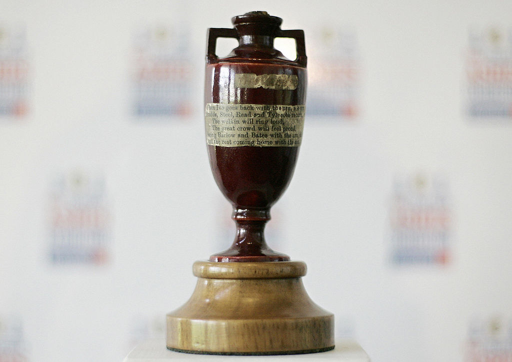 Article image for Original Ashes Urn travels in style for rare visit to Australia