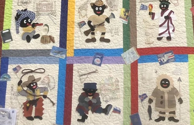 Article image for 'We're very sorry': Anger erupts after golliwog quilt wins first prize at Whittlesea Show