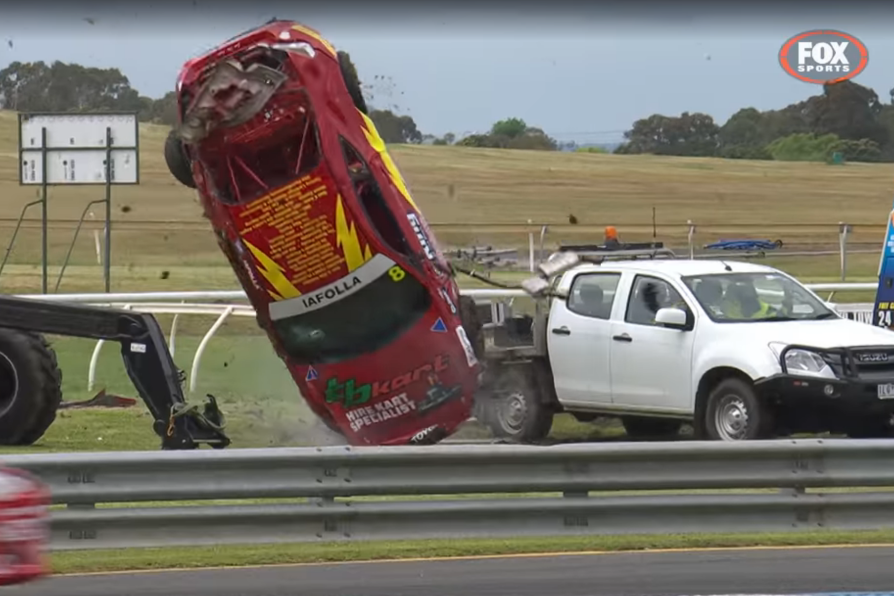 Article image for Shocking footage: Race car driver who walked away after horror crash says he was 'very, very lucky'