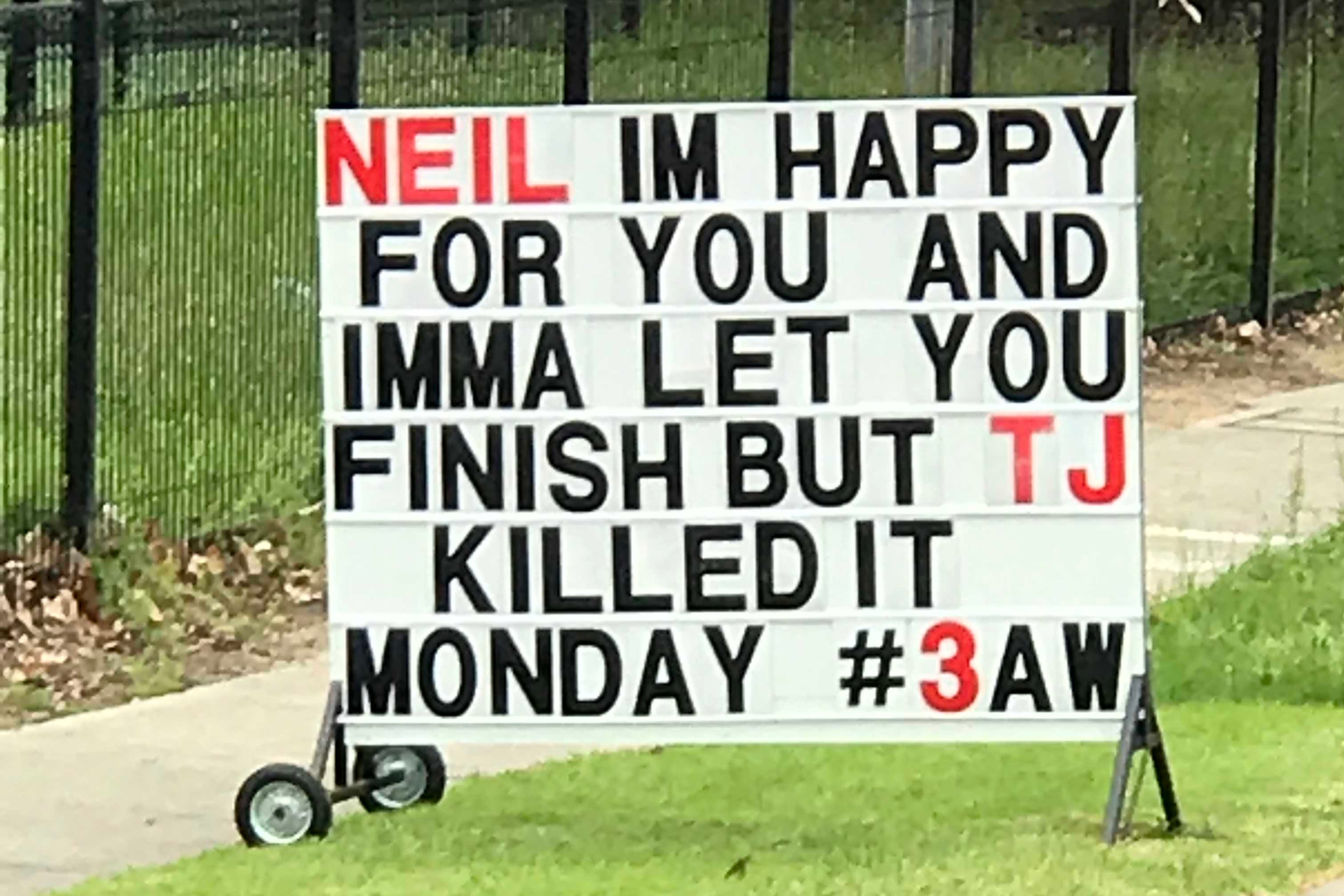 Article image for Hardware store shares cheeky message for Neil Mitchell